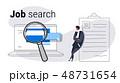 雇用 リサーチ 研究のイラスト 48731654