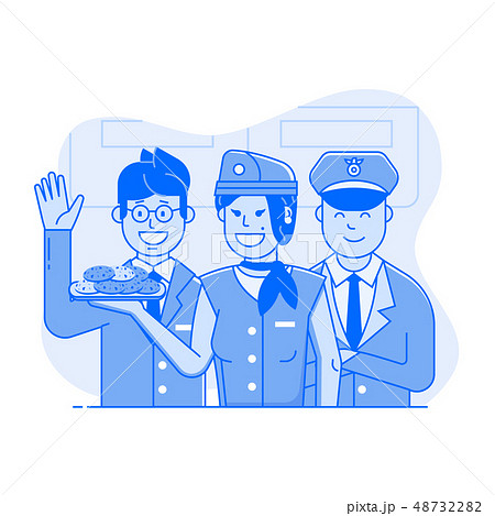 Welcome Aboard Concept with Air Crew 48732282