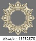 グレー デコラティブ 装飾的のイラスト 48732575