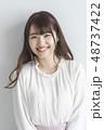 女性 人物 笑顔の写真 48737422