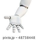ロボットハンド 腕 手のイラスト 48738448