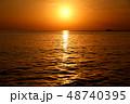 海 夕日 夕暮れの写真 48740395