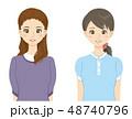 女性 20代 人物のイラスト 48740796