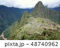 ペルー 風景 マチュピチュの写真 48740962
