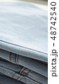 デニム ジーパン 生地 布 カジュアル インディコ ビンテージ イメージ アップ 背景 素材  48742540