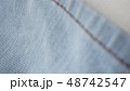 デニム ジーパン 生地 布 カジュアル すそ インディコ ビンテージ イメージ 背景 素材  48742547