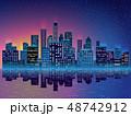 都市 ベクトル 高層ビル群のイラスト 48742912