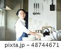 キッチン 厨房 女性の写真 48744671