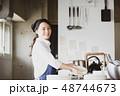 キッチン 厨房 女性の写真 48744673