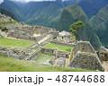 ペルー 風景 マチュピチュの写真 48744688