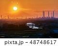 ダイヤモンド富士 夕日 富士山の写真 48748617