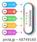 インフォグラフィック ベクタ ベクターのイラスト 48749160