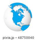 地球 立体 3Dのイラスト 48750040