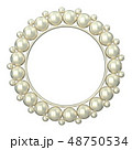 Circle round photo frame made of pearls 3D 48750534