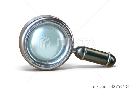 Magnifying glass 3D 48750536