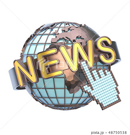 NEWS concept with earth globe 3D 48750538