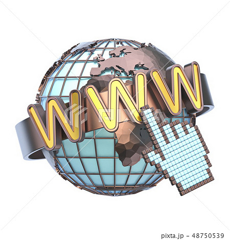 WWW concept with earth globe 3D 48750539