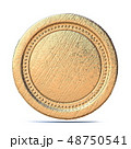 Blank old gold coin 3D 48750541