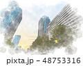 都会 高層ビル ビル群のイラスト 48753316