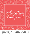 Education Supplies Lined Icon Stuff Square Banner 48755837