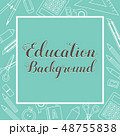 Education Supplies Lined Icon Stuff Square Banner 48755838