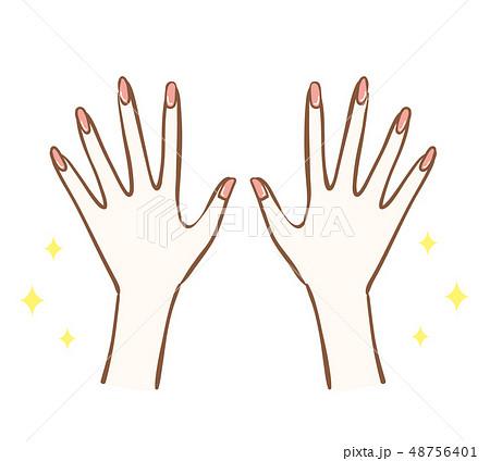 ネイル 女性 両手のイラスト素材 [48756401] , PIXTA