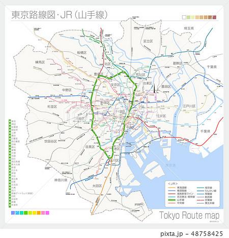東京の路線図・JR(山手線) 48758425