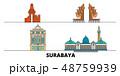 インドネシア 名所 アイコンのイラスト 48759939