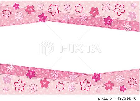 水玉生地のフレーム ポストカード 背景 ピンク  48759940