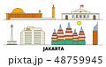 インドネシア ジャカルタ 名所のイラスト 48759945