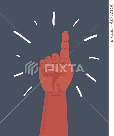 Pointing finger. Number one hand sign. 48762114