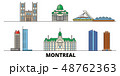 Canada, Montreal flat landmarks vector illustration. Canada, Montreal line city with famous travel 48762363