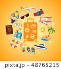 バケーション 夏 旅行のイラスト 48765215