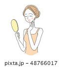 女性 スキンケア ビューティーのイラスト 48766017
