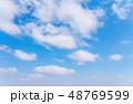 青空 快晴 晴天の写真 48769599