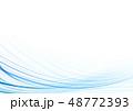 バックグラウンド 曲線 水色のイラスト 48772393