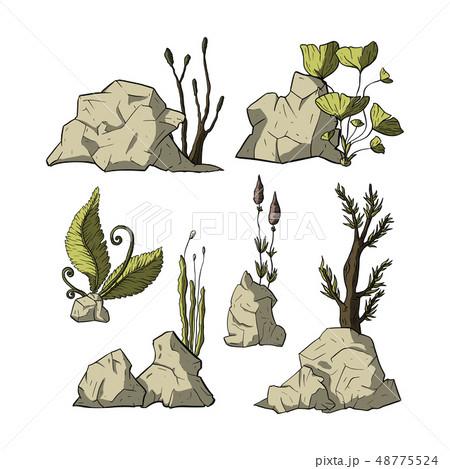 Stone vector set. 48775524
