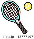 テニス テニスボール テニスラケットのイラスト 48777197