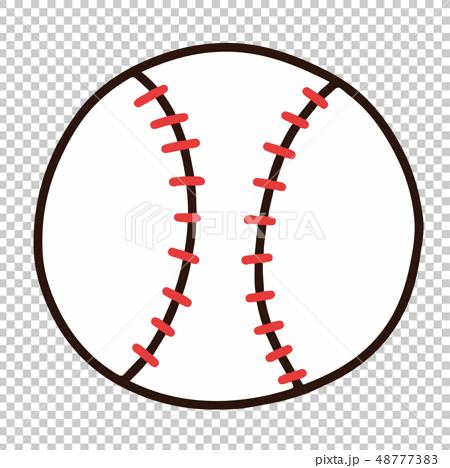 심플하고 귀여운 야구 공의 일러스트 주로 선 수 48777383