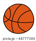 バスケ バスケットボール ボールのイラスト 48777384