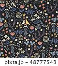 シームレス フローラル 花のイラスト 48777543
