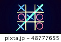 Tic-tac toe drawing in the blue background 48777655