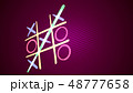 Noughts and crosses match in purple backdrop 48777658