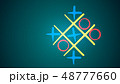 Tic-tac toe game in the turquoise backdrop 48777660