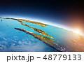 インドネシア マレーシア プラネットのイラスト 48779133