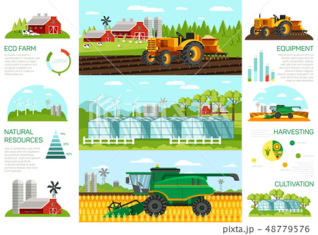 Set Eco Farm and Natural Resources Equipment. 48779576