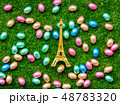 color Chocolate Easter eggs and Eiffel tower souvenir  48783320