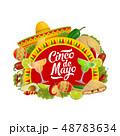 メキシカン メキシコ人 シンコデマヨのイラスト 48783634