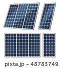 Solar panels of sun energy, eco power battery 48783749