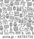 Islam religion and muslim culture icons seamless 48783756